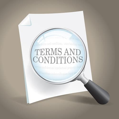Terms and Conditions of a Copier Lease