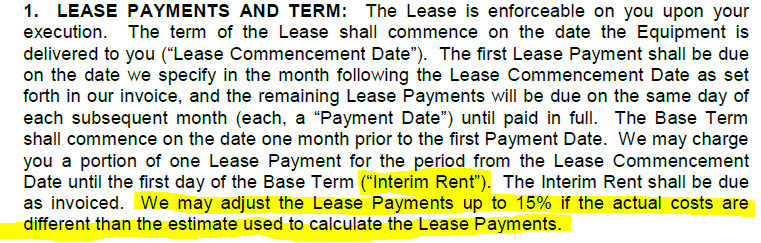 copier lease payment terms